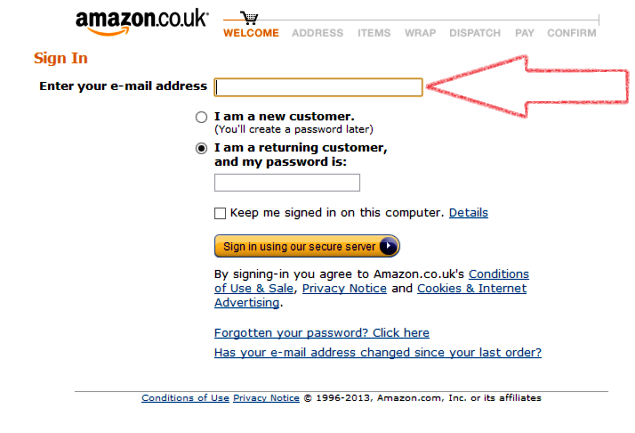 come acquistare su amazon.co.uk